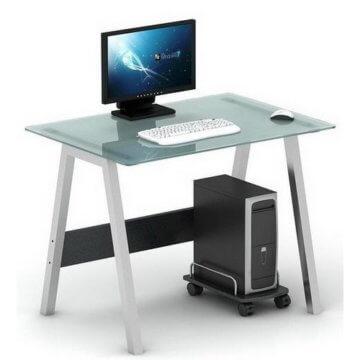 Pc schreibtisch  Delphi PC Schreibtisch GLAS lI❶Il Formschön & Hochwertig ▻Klick!