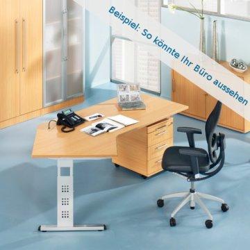 Schreibtisch MEGA 160 x 80 Buche -2