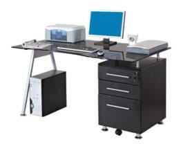 SixBros PC Schreibtisch GLAS-1