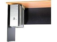 General Office Computer Halterung: Universal-Schienen-Halterung zur PC-Untertisch-Montage (PC Halterung Schreibtisch) - 3