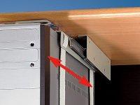 General Office Computer Halterung: Universal-Schienen-Halterung zur PC-Untertisch-Montage (PC Halterung Schreibtisch) - 4