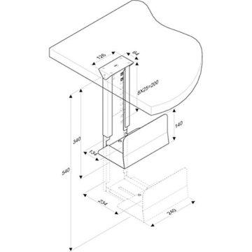 ROLINE PC Halterung | Computerhalterung Untertisch | Tischhalterung in schwarz - 4