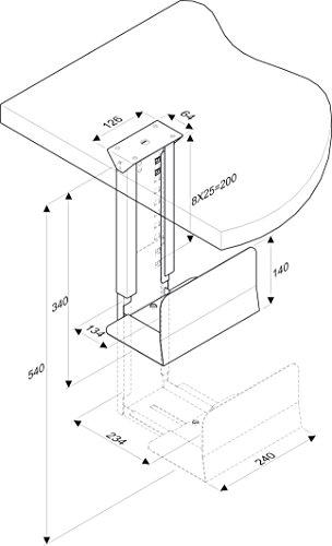 ROLINE PC Halterung | Computerhalterung Untertisch | Tischhalterung in schwarz - 5