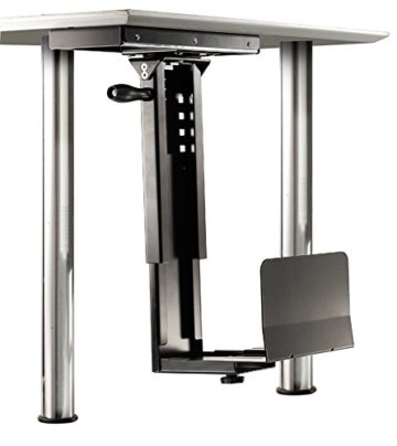 ROLINE PC Halterung | Untertisch Befestigung | Computer Halter | Tischhalterung drehbar | Schwarz - 2
