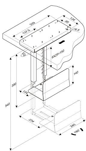 ROLINE PC Halterung | Untertisch Befestigung | Computer Halter | Tischhalterung drehbar | Schwarz - 3