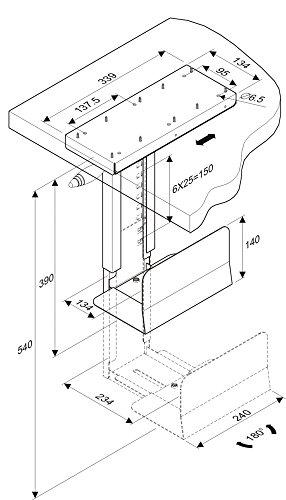 ROLINE PC Halterung | Untertisch Befestigung | Computer Halter | Tischhalterung drehbar | Schwarz - 4